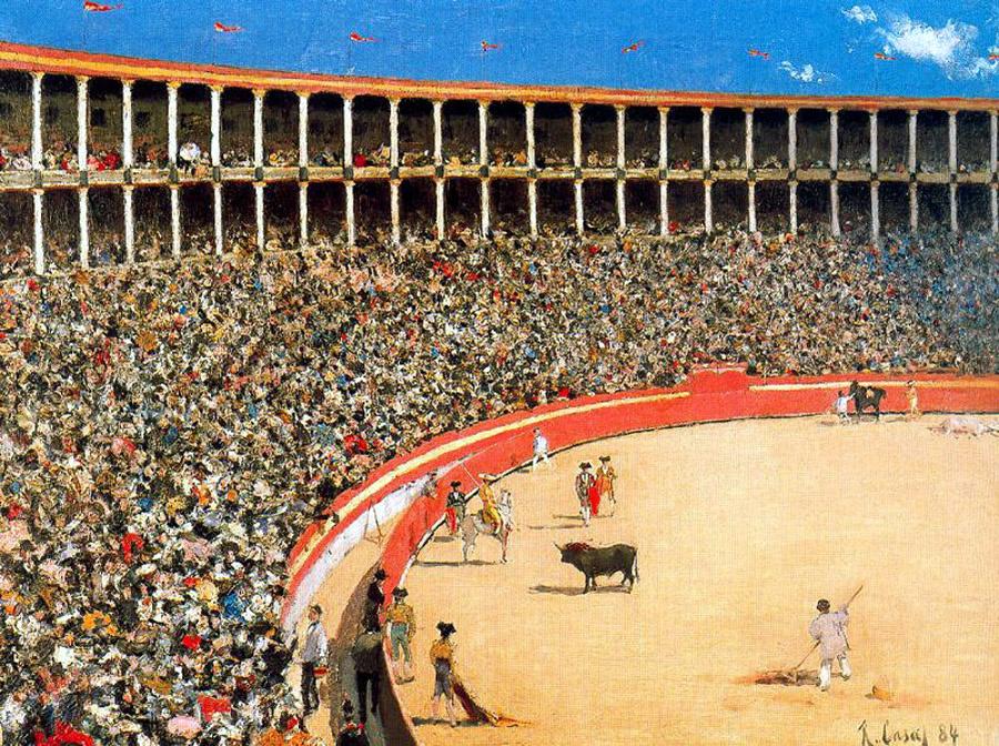 Рамон Касас Карбо. Коррида в Барселоне (Бой с быком)