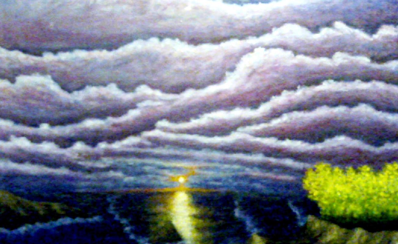 Andrey Victorovich Schekutev. AUTUMN SUNSET.canvas oil