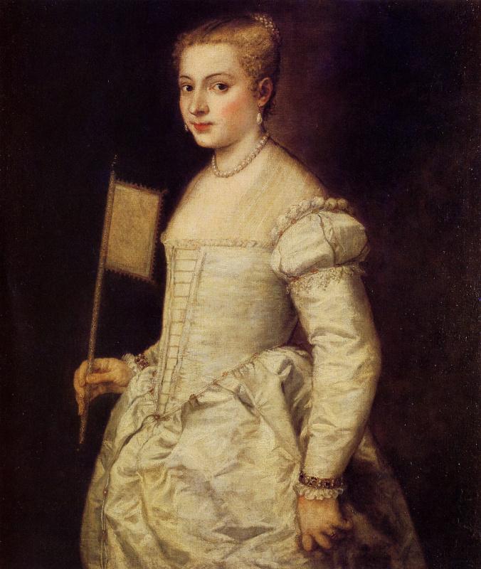 Тициан Вечеллио. Портрет дамы в белом