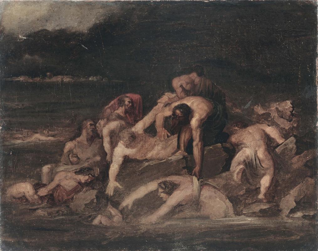 Théodore Géricault. Mythological Scene (Flood). Sketch