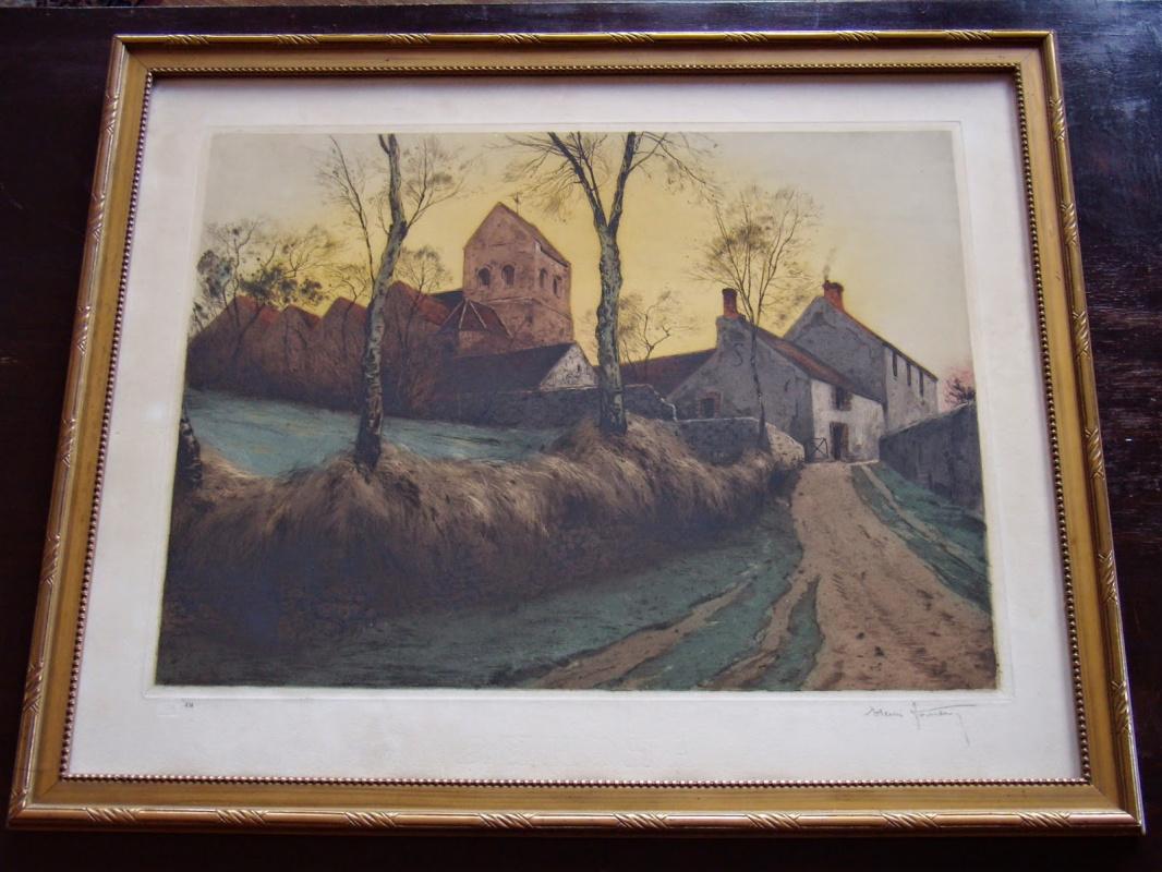 Henri Jourdain. French countryside scene.
