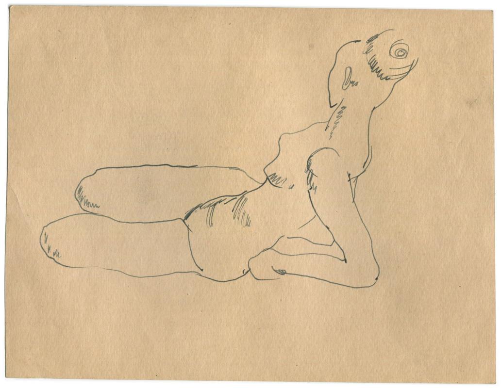 Alexandrovich Rudolf Pavlov. A sketch of a woman.