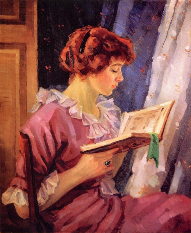 Оскар Фехрер. Женщина в профиль читая