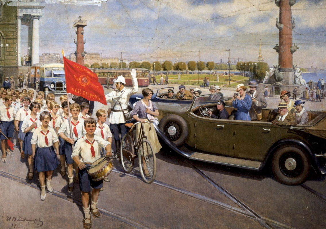 Иван Алексеевич Владимиров. Иностранные туристы в Ленинграде