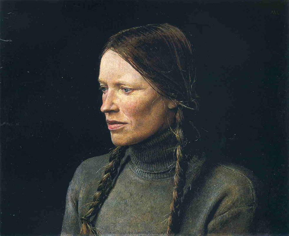 "Andrew Wyeth. Braids (from the series ""Helga"")"