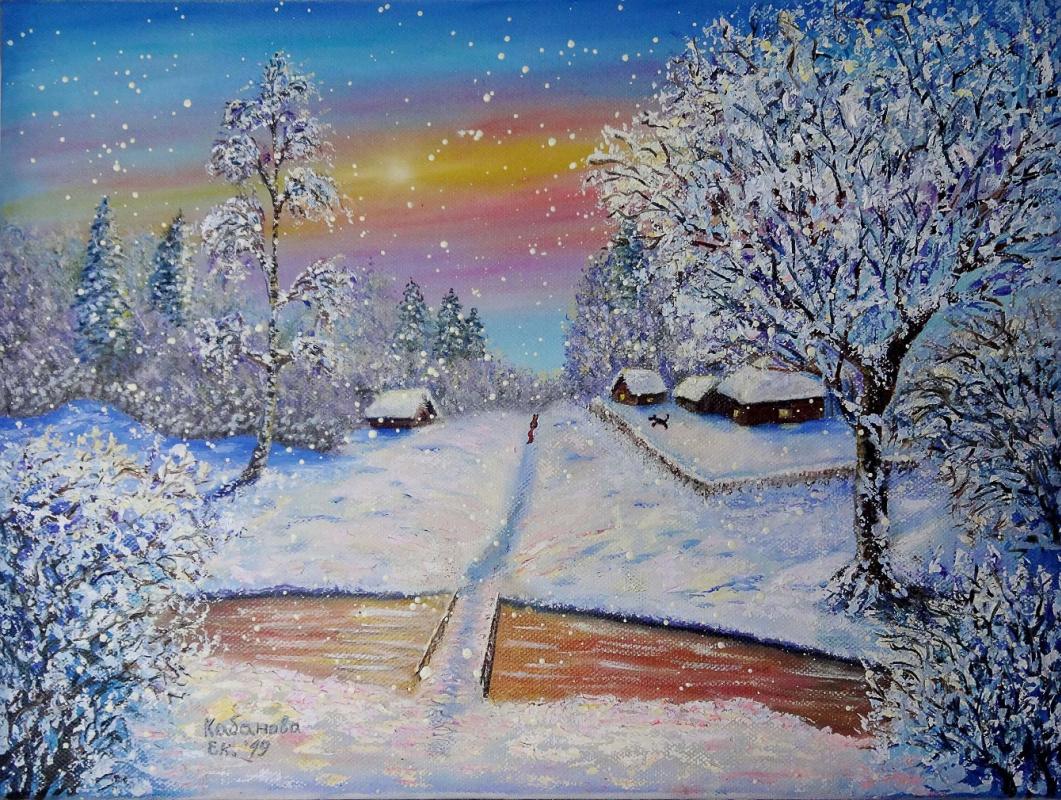 Ekaterina Kabanova. Snowy morning. The incident.
