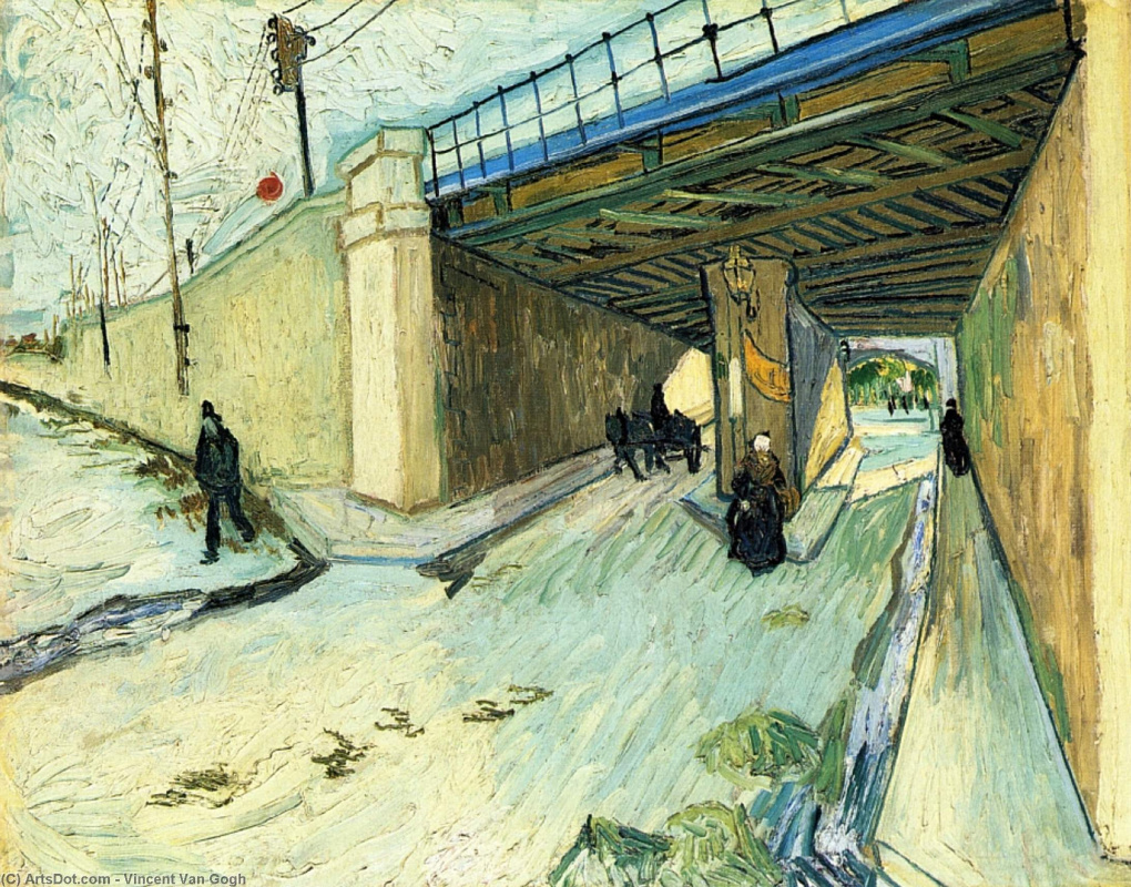 Vincent van Gogh. Railway bridge on Avenue Monmajour