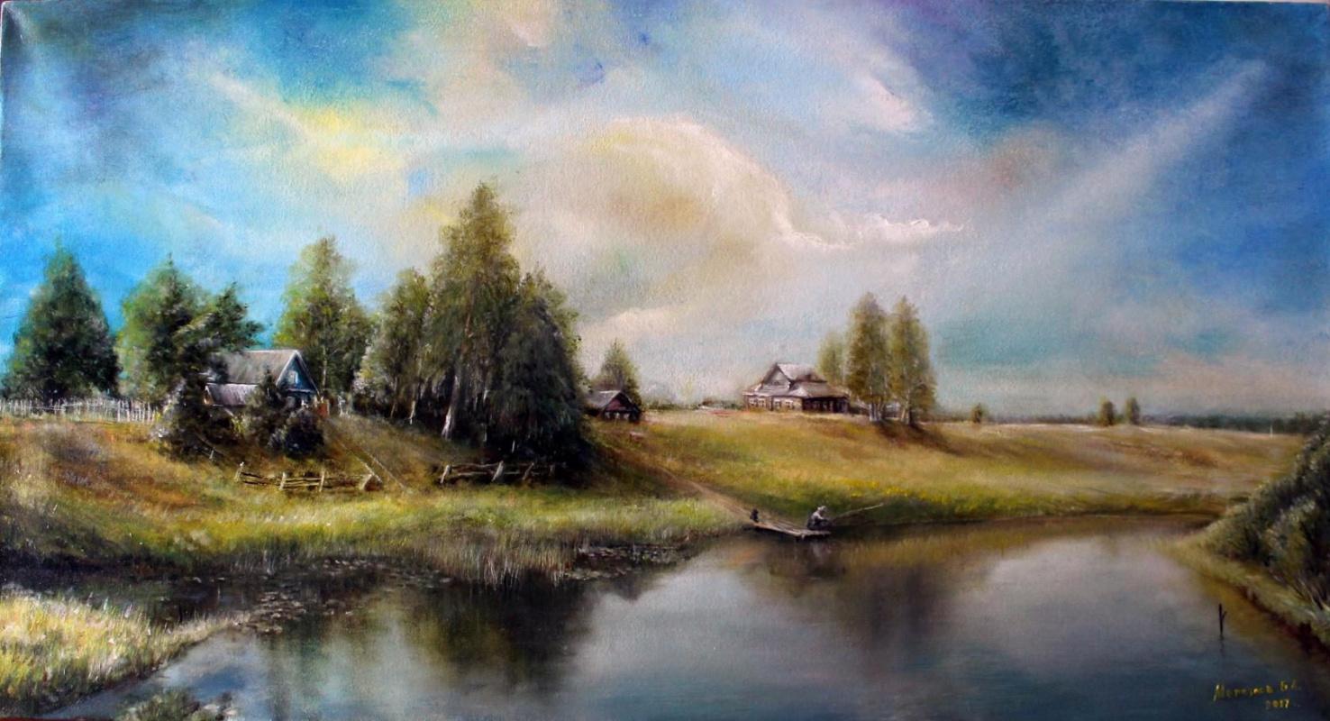 Boris Anatolyevich Merkulov. At the pond