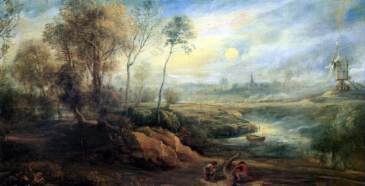 Peter Paul Rubens. Landscape with a bird-catcher