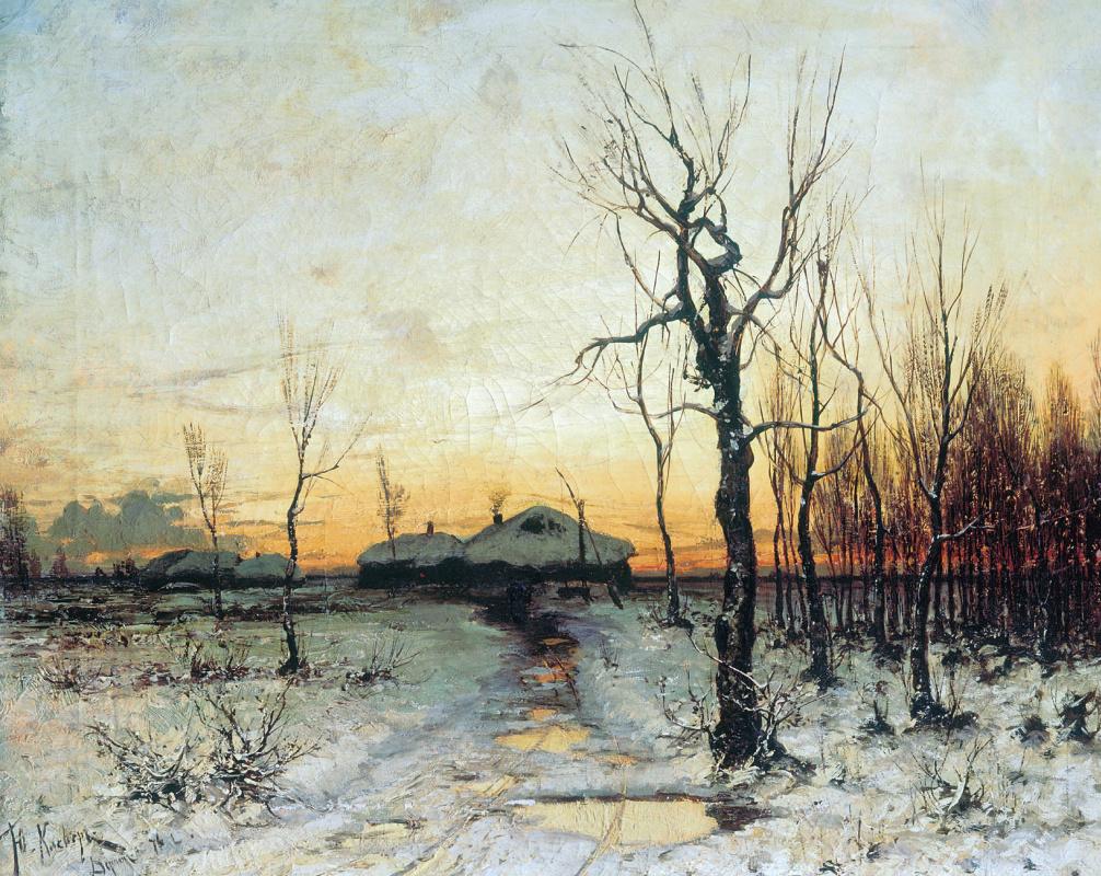 Юлий Юльевич Клевер. Зима