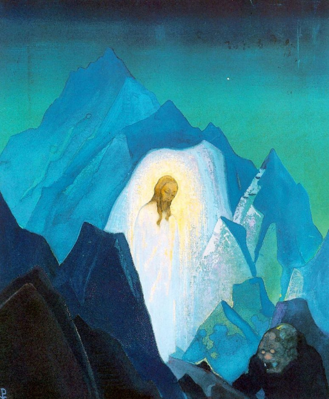 Nicholas Roerich. Christ in the desert