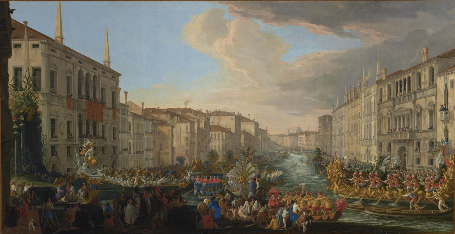 Лука Карлеварис. Регата на Гранд-канале в честь Фредерика IV, короля Дании