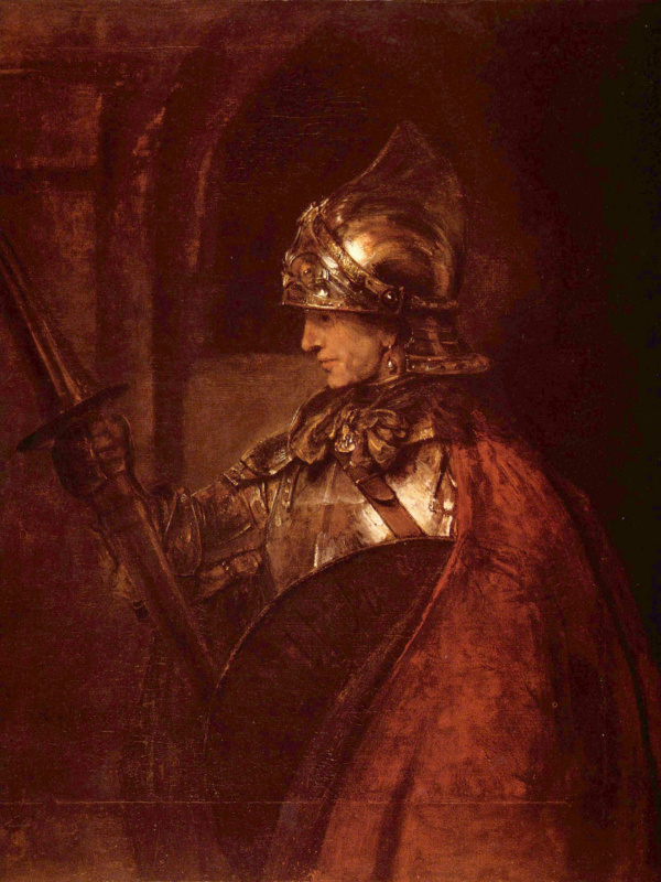 Rembrandt Harmenszoon van Rijn. The man in armor