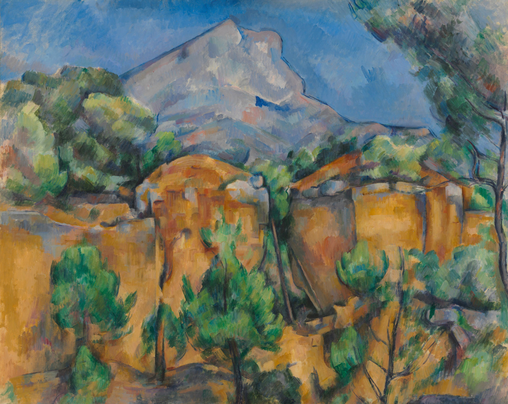 Paul Cezanne. Mount Sainte-Victoire, view from the quarry (the Mount of Saint Victoria, the view from the quarry)