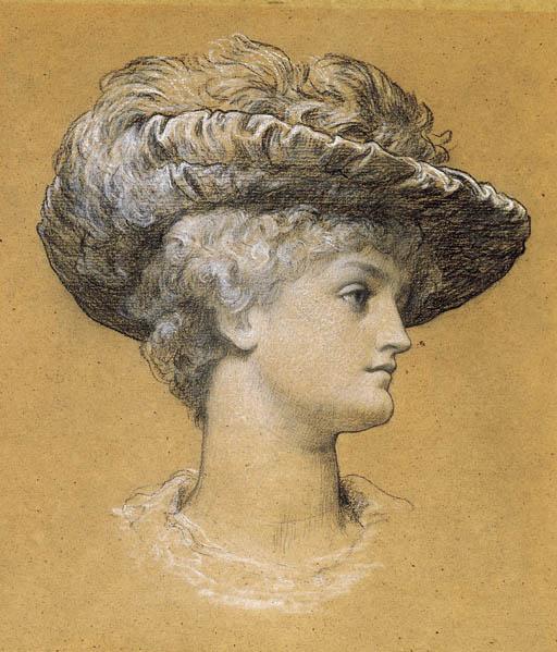 Frederic Leighton. Portrait of Dorothy Dene