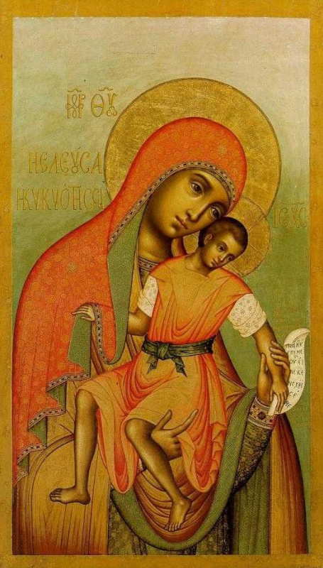 Icon Painting. Kykkos Icon Of The Mother Of God