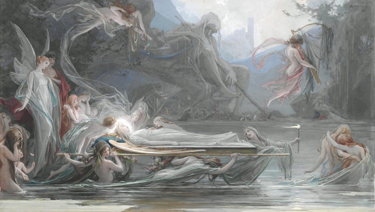 Максимилиан Пирнер. Похороны нимфы