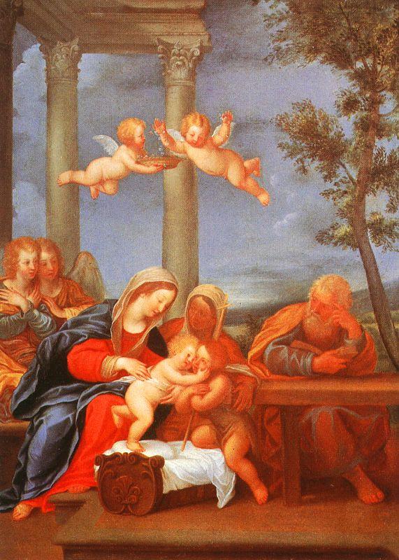 Франческо Альбани. Мадонна с младенцем