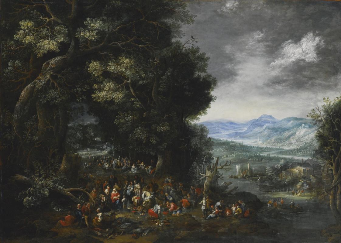 Herman Eduard Hartmann (Hartman). Landscape with Saint John the Baptist