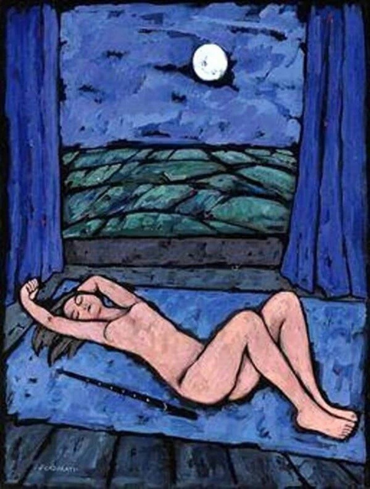 Феличе Казорати. Обнаженная спит