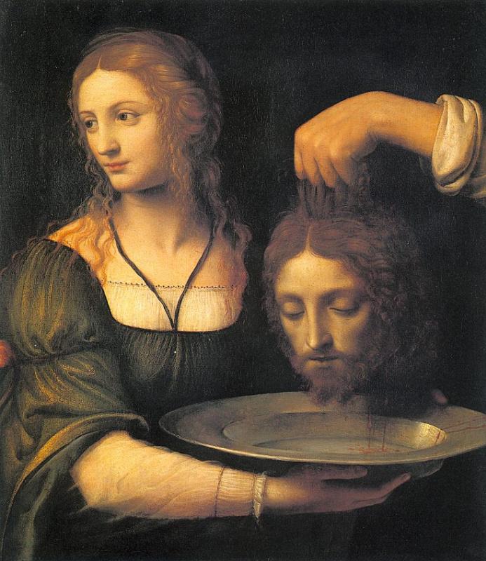 Бернардино Луини. Голова Крестителя
