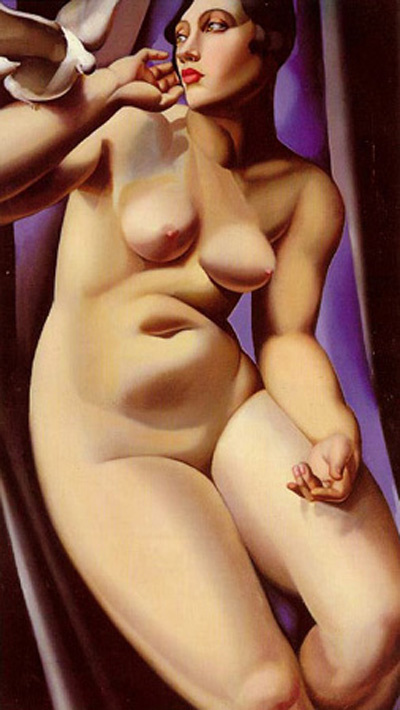 Tamara Lempicka. The Nude woman and the dove
