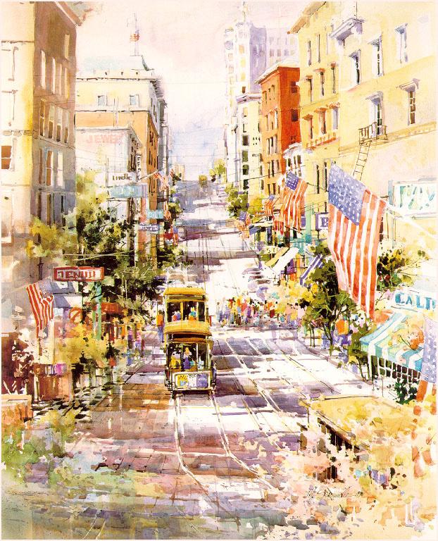 Мэрилин Симандл. Флаги на улицах