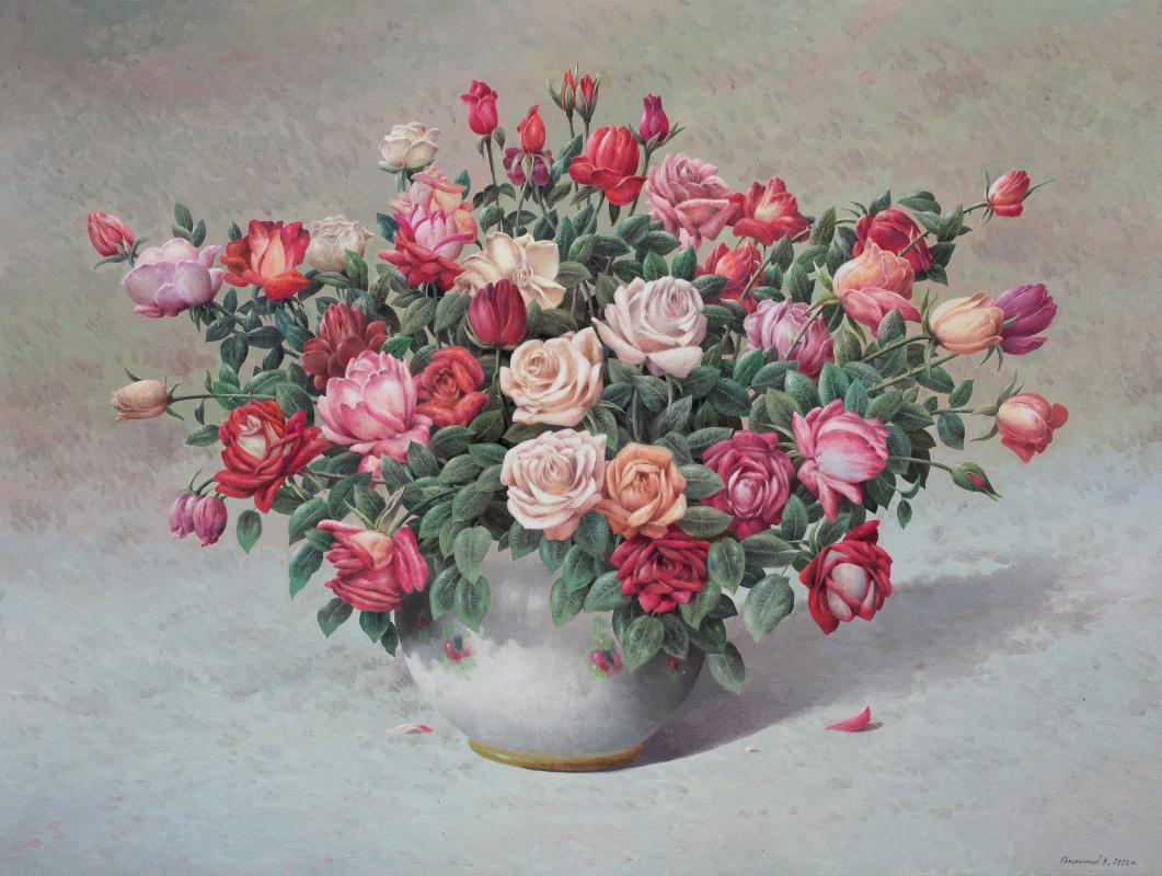 Vasily Ivanovich Gribennikov. Розы