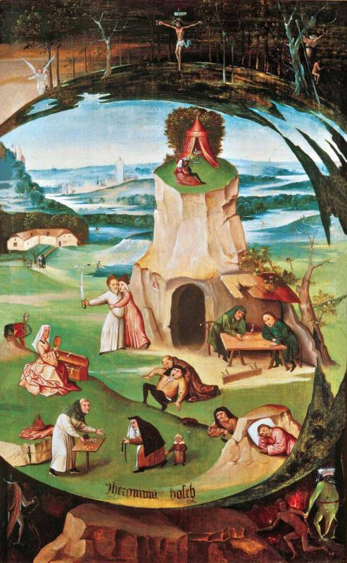Анонимные последователи Иеронима Босха. Семь смертных грехов