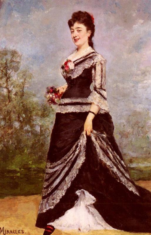 Франсиско Мираллес. Дама в платье