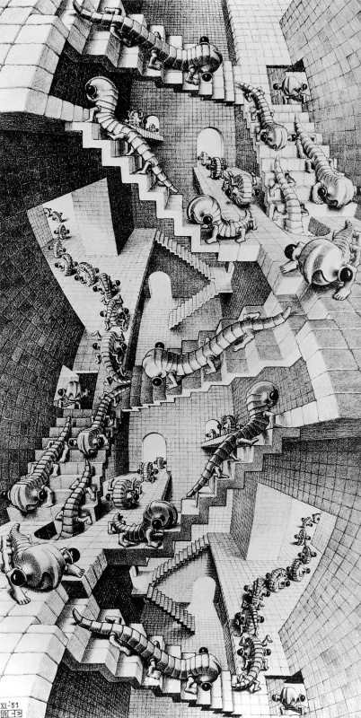 Maurits Cornelis Escher. House with stairs