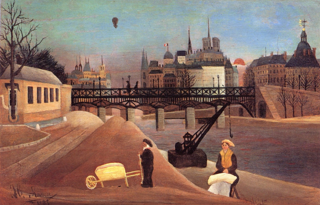 Henri Rousseau. Ile Saint-Louis and Notre-Dame de Paris