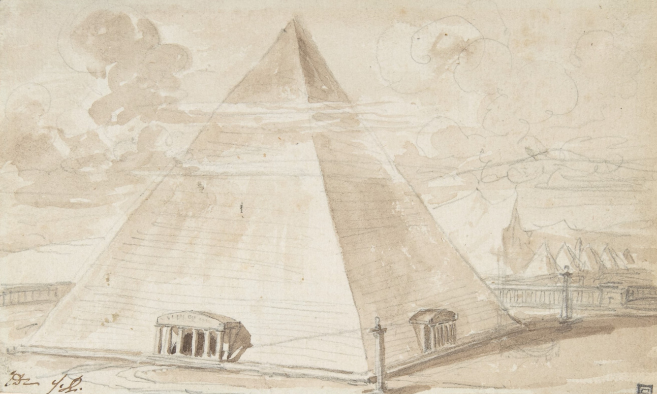 Jacques-Louis David. Pyramid. Sketch