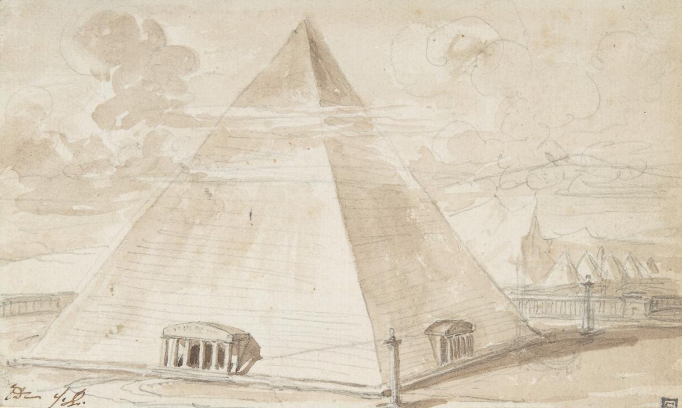 Jacques-Louis David. Pyramid. Sketch