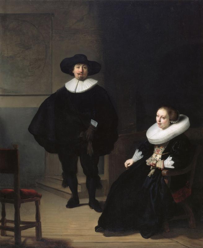 Рембрандт Харменс ван Рейн. Господин и дама в чёрном