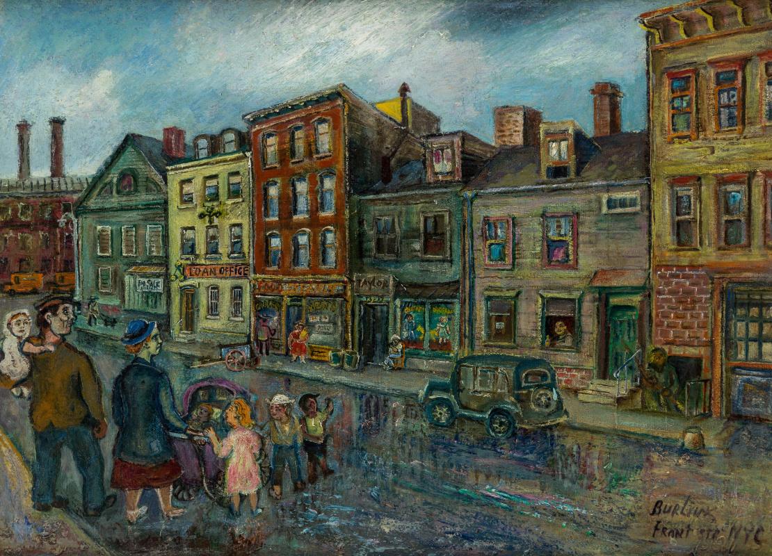 Давид Давидович Бурлюк. Улица в Нью-Йорке