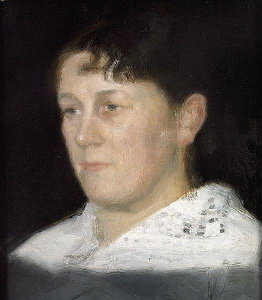 Vilhelm Hammershøi. Portrait of Mrs. Wilhelmina Bramsen