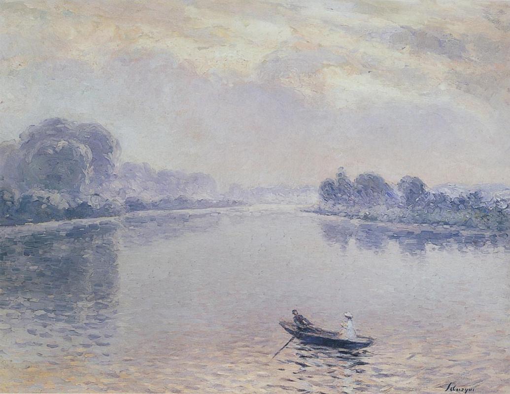 Анри Лебаск. В лодке в Сен-Пьер