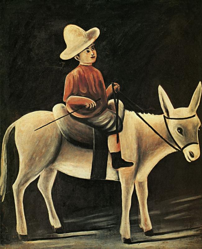 Нико Пиросмани (Пиросманашвили). Мальчик на осле