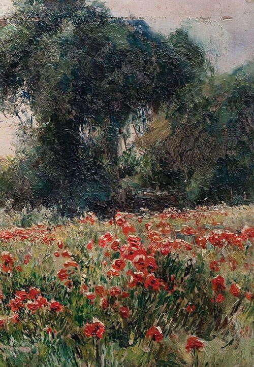 Михаил Андреевич Беркос. Маки цветут (фрагмент)