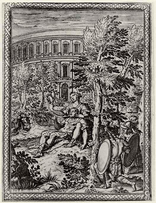 """Бернардо Кастелло. Иллюстрация к поэме Торквато Тассо """"Освобожденный Иерусалим"""", Ринальдо в плену у Армиды"""