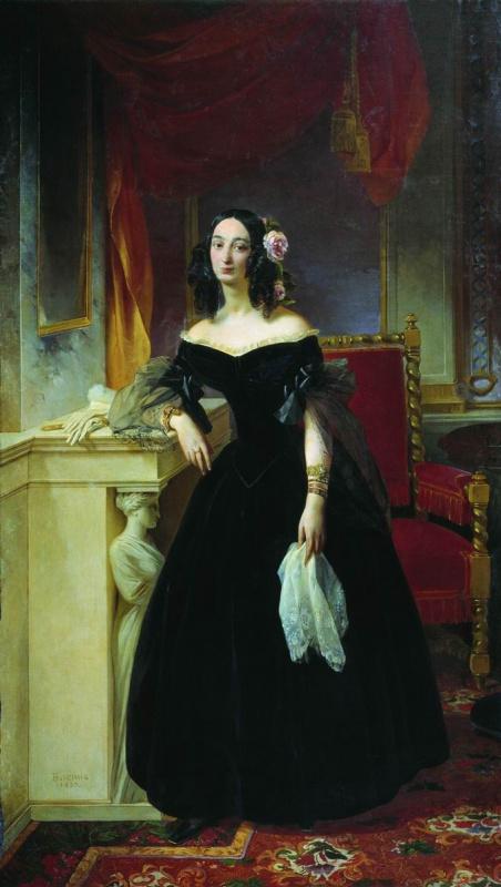 Peter Vasilyevich Basin Russia. Portrait of S. S. Bibikova. 1839