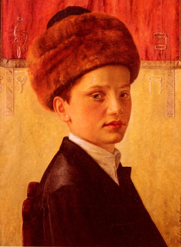 Исидор Кауфман. Портрет молодого хасидского мальчика