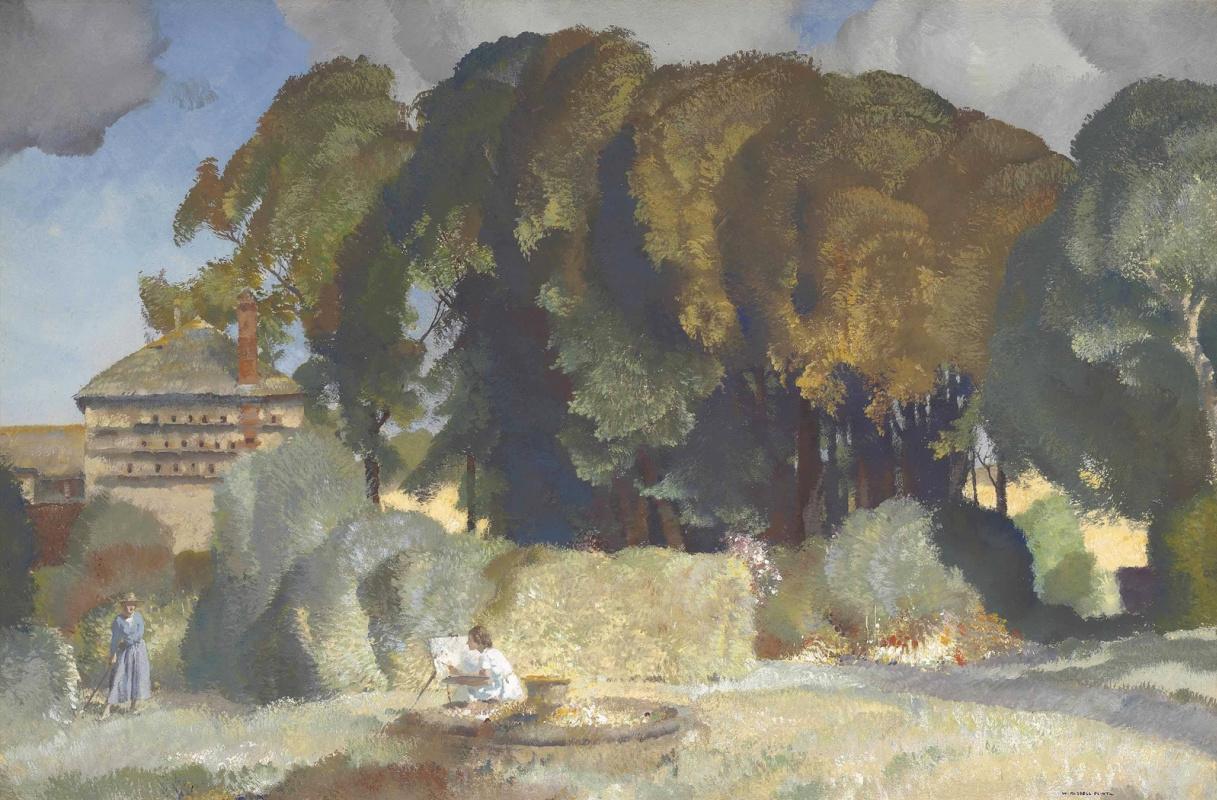 William Russell Flint 1880 - 1969 Scotland. Garden in Devon.