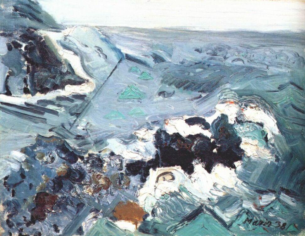 John Marin. A sea of gray