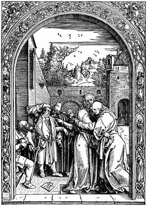 Альбрехт Дюрер. Иоаким и Анна у Золотых ворот