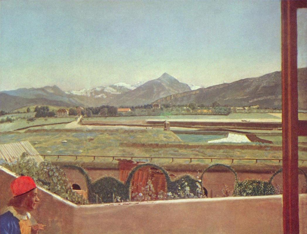 Jean-Etienne Lyotard. Landscape near Geneva