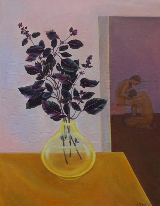 Ira Zaitseva. Flowers Basil