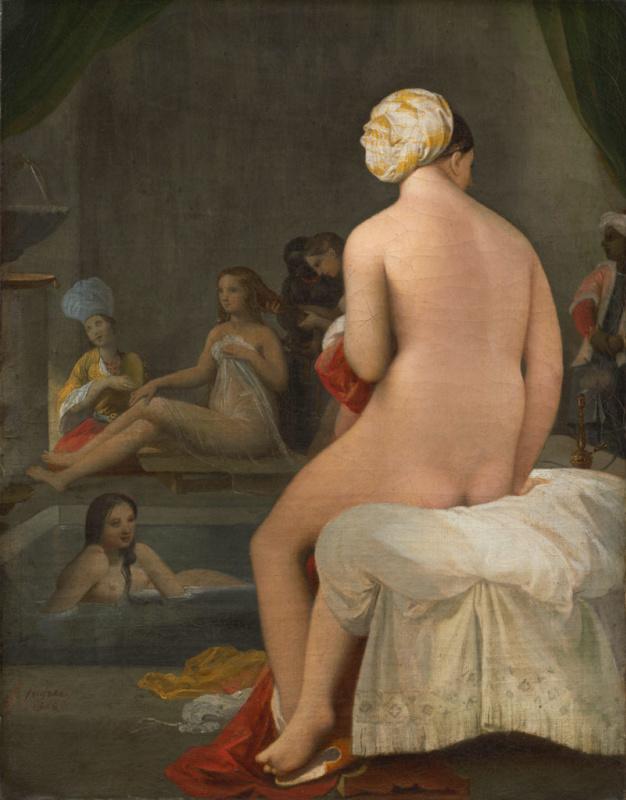 Jean Auguste Dominique Ingres. Small bather, interior harem