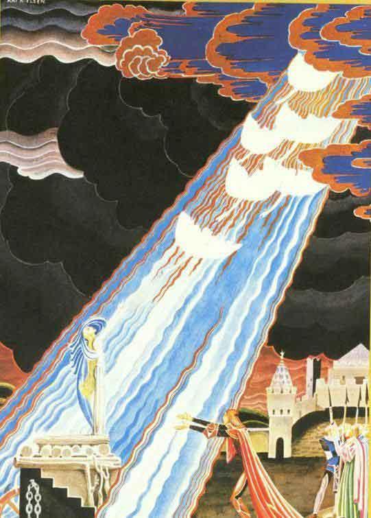 Кей Нильсен. Иллюстрация к сказке Шесть лебедей 02